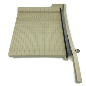 "🔴Vintage Boston 12"" Trimmer Heavy Duty Guillotine Paper Cutter Made in USA"
