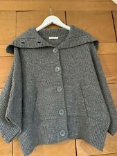 M&S Marks &Spencer 100% Acrylic Chunky Grey Knit Batwing Cardigan.Worn Once.14