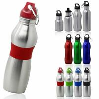 Edelstahl Trinkflasche Wasserflasche Sport Schraubverschluss Fahrrad Wasserdicht