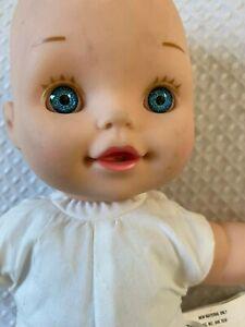 """12"""" Geoffrey LLC Baby Doll Vinyl Blue Eyes Molded Hair Toys R Us 2015"""