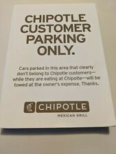 Chipotle Customer Parking Pad (Offical Issue) collectors - rare-full pad