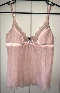 HONEY BIRDETTE Cute Sheer Pink Babydoll Top SIZE Small Lingerie *AS NEW*