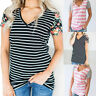 Women's Casual Loose V-Neck T-Shirt Tops Ladies Short Sleeve Blouse Pullover Tee