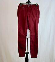 Aeropostale Women's High Waisted Jegging Skinny Burgundy Jeans - Size 2