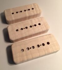 Guilford Flame Maple P-90 Pickup Covers - Set Of 3 - Gibson, Lollar - USA