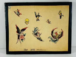VTG Original 70's tattoo Flash 09 Phoenix Birds Sparrow Spaulding Rogers