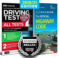 2020/21 Driving Theory Test & Hazard CD DVD + Official Highway Code Book