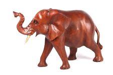 Hermoso XL ELEFANTE 32cm felicidad elefante madera animales de África Decoración