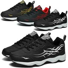 Mens Casual Breathable Non-slip Outdoor Sneakers Lightweight Lace-up Shoes