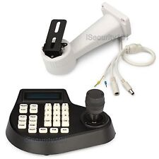 Joystick Keyboard Controller Remote w RS485 CCTV Camera Electric Rotate Bracket