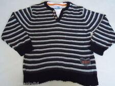 Pull noir pour garçon de 2 à 16 ans en 100% coton
