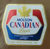 VINTAGE CANADIAN BEER LABEL - MOOSEHEAD BREWERY, CANADIAN LAGER 341 ML
