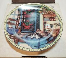 "Edwin M Knowles ""Lazy Morning"" Hannah Hollister Ingmire Collector Plate 1991"