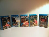 Lot Of 5 - The Hardy Boys - Hardcovers - Franklin W. Dixon - Books 1 Through 5