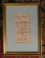 *LINCOLN ASSASSINATION: LAURA KEENE RARE ORIGINAL MARCH 1865 FRAMED PROGRAM*