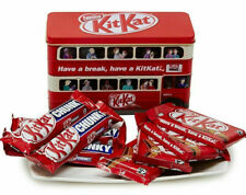 Nestle Kitkat Chunky Milk Chocolate Christmas Bus Tin 326g Best Before 03/2020