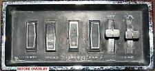 NEW 1966-1973 JEEPSTER COMMANDO SWITCH PANEL OVERLAY, FIX UNREADABLE SWITCHES
