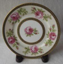 Antique Limoges France George Borgfeldt Coronet Handpainted Pink Roses Plate
