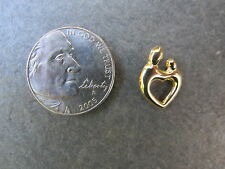 10 KT Yellow Gold Mother w/ A Baby or A Child Pendant Charm Slide NEW Lightweigh