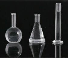 Miniature Beakers Dollhouse Science Doctor Classroom 1/12 1/6 Scale beaker