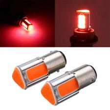 2x Red 1157 BAY15D 3+1COB LED Car Reverse Backup Tail Stop Brake Light Bulb