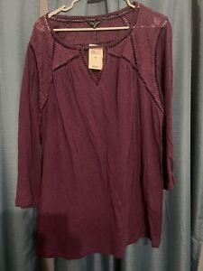 Lucky Brand womans shirt size 3x