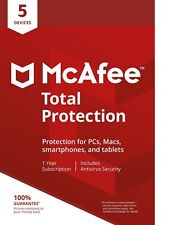 McAfee Total Protection 2018 - 5 Devices -1 Year Download /PC/MAC/Android/iOS