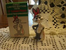 First Edition(Looney Toons-Bugs Bunny-Christmas Ornament)1979-In Original Box