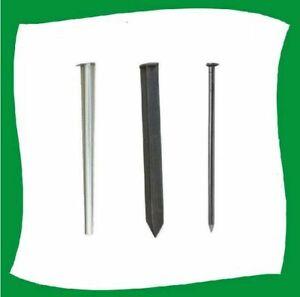 10x Kunststoff oder Stahlanker Befestigung Rasenkantennagel Erdspieß Bodenanker