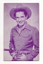 Bob Steele 1940's Salutations Cowboy Purple Exhibit Arcade Card