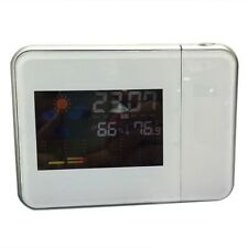 Digital LCD LED Projector Projection Alarm Clock Weather Station Calendar Snooze