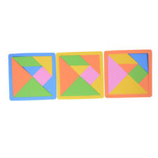 Colorful Tangram Jigsaw EVA Puzzle Baby Kids Development Educational Toy Gift HF