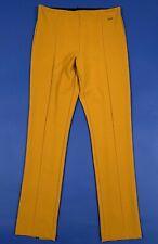 Exsy pantalone elegante donna nuovo W28 tg 42 slim senape a riga vita alta T5290