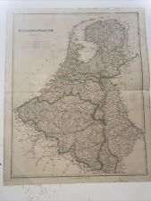 1834 Holland And Belgium J Arrowsmith Map From The London Atlas Antique