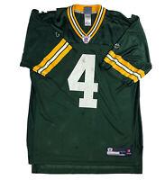 Brett Favre #4 Green Bay Packers Reebok Home Jersey NFL Equipment Size L Large