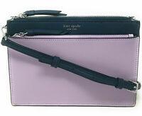 NWT Kate Spade Cameron Leather Zip Crossbody Lavander / Navy WKRU5846 $229 MSRP