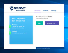 New Vipre Antivirus Plus , 3 PC license for 1 Year.