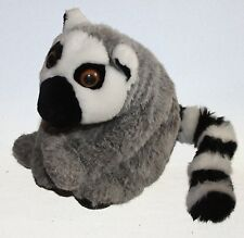 "Rare Ring Tailed Lemur Plush Stuffed Animal Zoo Animal Jungle 10"" Stripe Tail"
