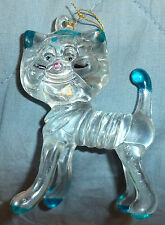 ?Vintage Plastic Cat Ornament