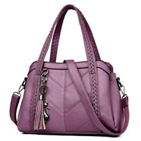 Genuine Leather Women Vintage Crossbody Shoulder Bags Lady Casual Totes Handbag