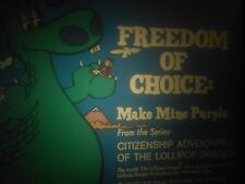 LOLLIPOP DRAGON; FREEDOM OF CHOICE: MAKE MINE PURPLE filmstrip /tape