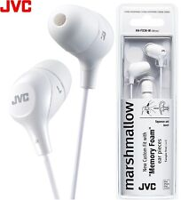 JVC HA-FX38 WHITE Marshmallow In-Ear Tangle-Free Stereo Earphones / Brand New