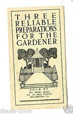 Vintage Garden Booklet 3 RELIABLE PREPARATIONS FOR THE GARDENER Henry Maule PhiL