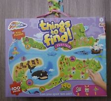 KIDS JIGSAW PUZZLE 190 THINGS TO FIND! 100 PIECES FAIRY TALE ISLAND GAME 3+