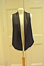 H&M Black Waistcoat / Sleeveless Blazer, Uk Size 10