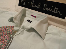 "PAUL SMITH Mens Shirt 🌍 Size 16.5"" (CHEST 46"") 🌎 RRP £95+ 🌏 PLAIN/FLORAL CUFF"