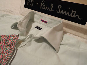 "PAUL SMITH Mens Shirt 🌍 Size 16.5"" (CHEST 46"") 🌎 RRP £95+ 🌏 PLAIN/FLORAL CUFF"
