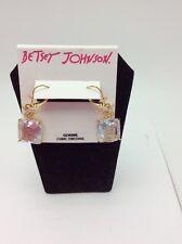 $45 Betsey Johnson Cat Cubic Zirconia Cat Earrings Q-18A