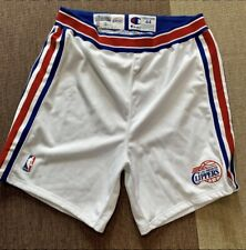 1997 Los Angeles Clippers Game Worn Team Issued Champion Authentic Shorts 44