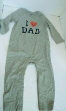 "Baby Gap Infant 18-24 Months One Piece ""I Heart Dad"" bodysuit"